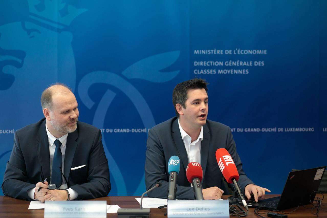 Le ministre des Classes moyennes, Lex Delles, se réjouissait, au vu du nombre croissant de demandes d'autorisation d'établissement, de ce que le Luxembourg «joueun rôle de moteur économique de la Grande Région». (Photo: Matic Zorman)
