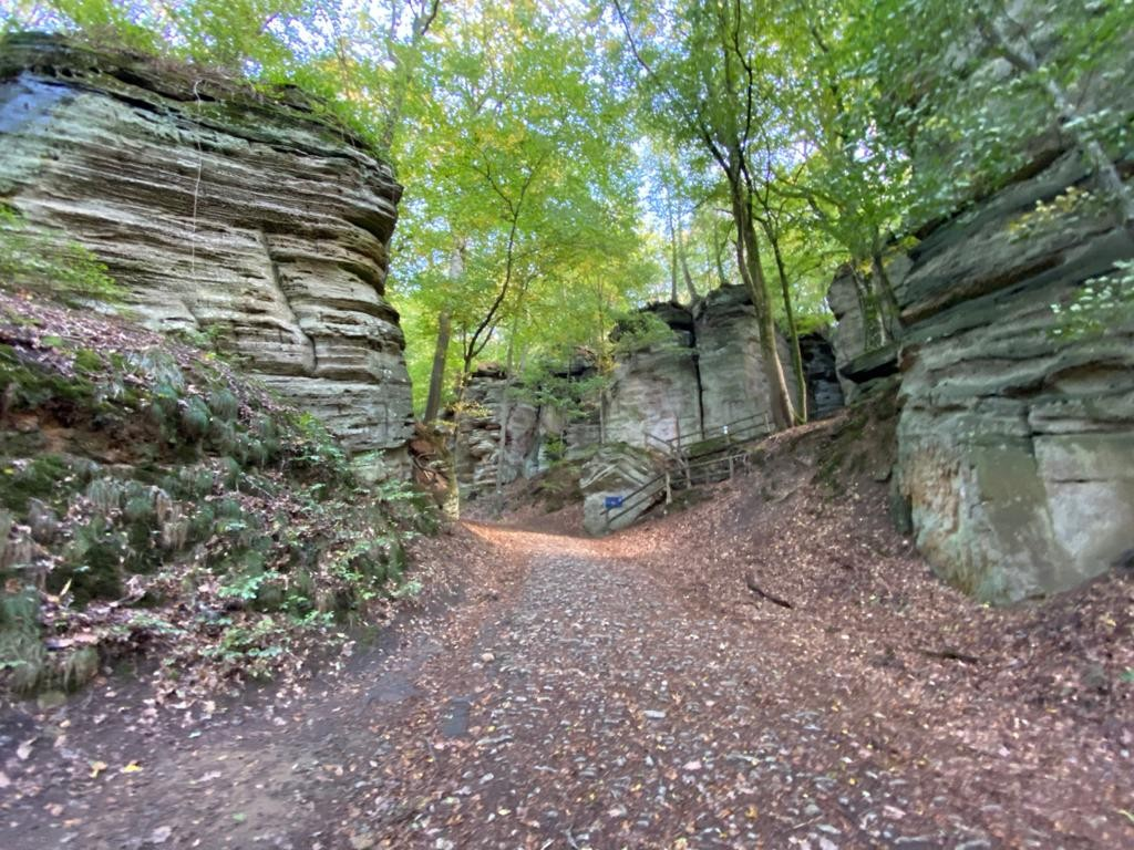 The smooth, weather-worn trails between impressive rock formations in the Mullerthal region are a real thrill JR