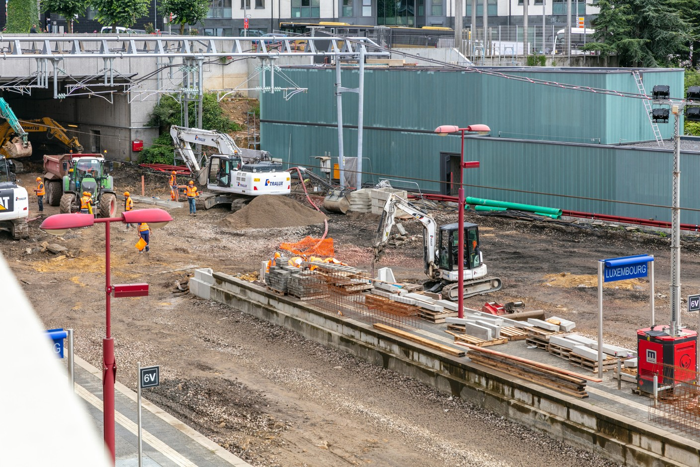 """The station works are in their """"phase 3"""". (Photo: Romain Gamba/Maison Moderne)"""