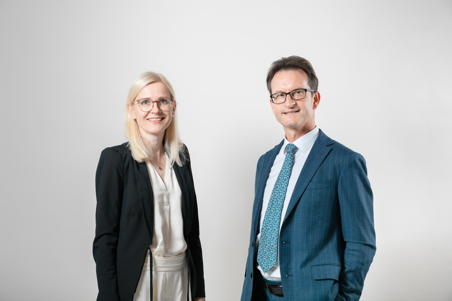 Cindy Tereba and Carlo Thelen serve as director international affairs and general director, respectively, of the Luxembourg Chamber of Commerce Romain Gamba / Maison Moderne