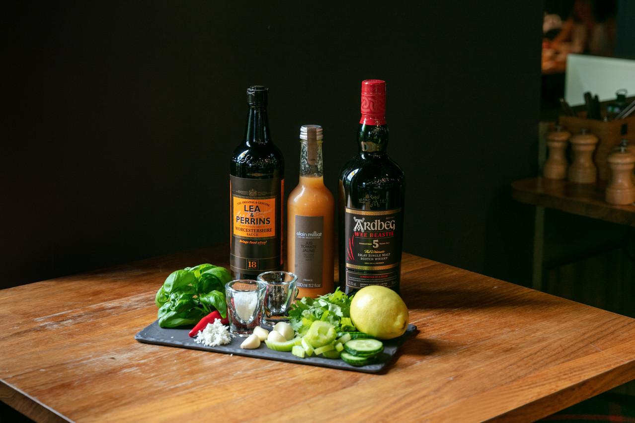 Florian Pawlik's interpretation of the Whisky Bloody Mary. Romain Gamba/Maison Moderne