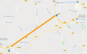 La fermeture de la cokerie d'ArcelorMittal à Hayange, en avril 2020, permet de relancer l'hypothèse d'une portion entre les deux autoroutes avec un tunnel souterrain dans les zones à forte densité de population. (Illustration: Maison moderne)