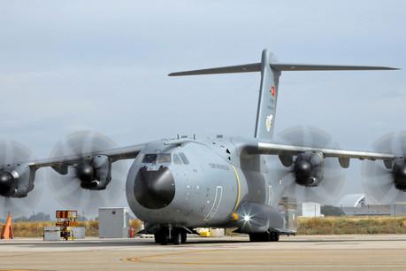 L'A400M luxembourgeois, dont la mise en peinture commence à Séville, sera livré dès juin2020. (Photo: Airbus Defence)