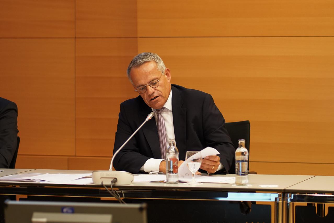 Guy Hoffmann estime que le problème de la baisse de rentabilité des banques n'est pas suffisamment pris en compte par le gouvernement. (Photo: Romain Gamba / Maison Moderne)