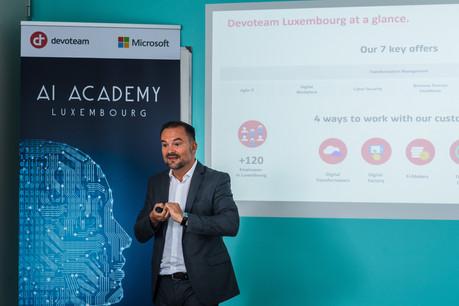 «Nous offrons désormais un programme sur mesure pour mieux répondre à la demande croissante sur le marché», expliqueWilfrid Lagrange, country manager au sein de Devoteam Luxembourg. (Photo: Nader Ghavami)