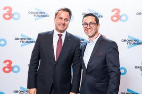 Xavier Bettel (Premier ministre) et Laurent Moscetti(Accenture) ((Photo: Olivier Anbergen / Melting Prod))