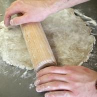 Une pâte à base de sarrasin pour le fond. (Jérémy Grosdidier)