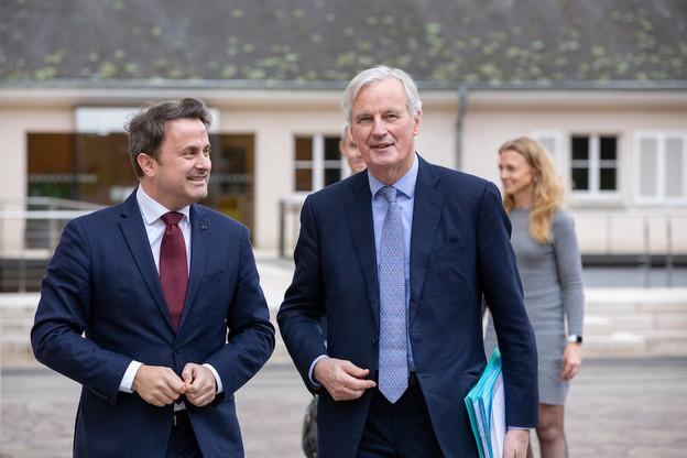 Le négociateur du Brexit, Michel Barnier, s'est rendu lundi 10 février au château de Senningen pour une réunion de travail avec le Premier ministre, Xavier Bettel. (Photo: Romain Gamba)