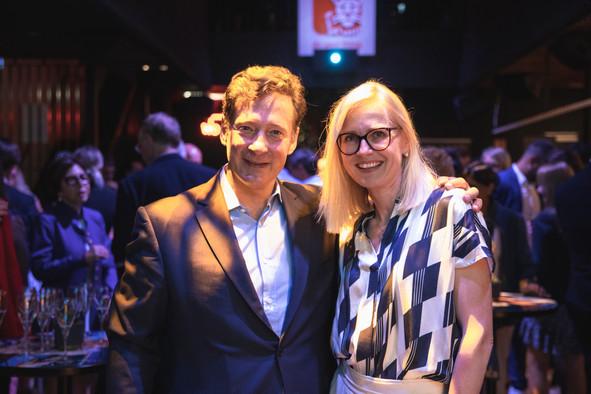 Nicolas Mackel (Luxembourg for Finance) and Cindy Tereba (Luxembourg Chamber of Commerce) Photo: Simon Verjus / Maison Moderne