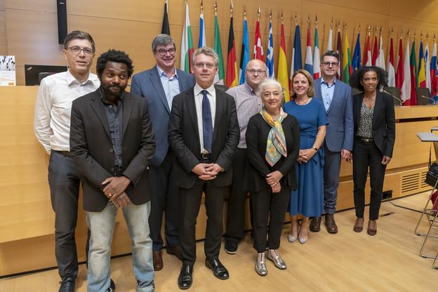 Les intervenants lors de la table ronde du mardi 17 septembre à la Chambre de commerce. (Photo: Emmanuel Claude / Focalize)