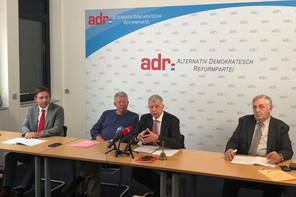 La fraction, qui compte désormais FredKeup (à gauche) en ses rangs, sera d'une extrême vigilance à l'égard de toutes les propositions du gouvernement. (Photo: Paperjam)