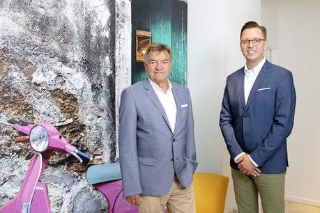 Ghislain Ludwig et Laurent Mathékowitsch vont codiriger l'agence de communication Brain&More. (Photo: brain&more/Olivier Minaire)