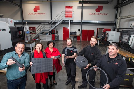 L'entreprise spécialisée dans l'usinage et l'entretien de pièces en graphite est désormais installée dans son nouveau bâtiment situé à la frontière belgo-luxembourgeoise. (Photo: Nader Ghavami)