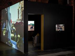 Vue de l'exposition«Land Rush» au Pomhouse du CNA. ((Photo: Romain Girtgen/CNA))