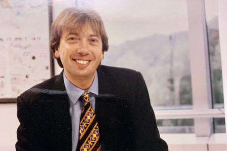 Alain Berwick, au début des années 90 lors de la création de RTL Télé Lëtzebuerg. (Photo: DR/archives)