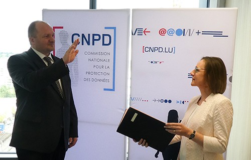 Alain Herrmann was sworn in last Friday to succeed Christophe Buschmann as commissioner of the CNPD (Photo: CNPD)