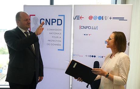 Alain Herrmann a prêté serment vendredi dernier pour succéder à Christophe Buschmann au poste de commissaire à la CNPD. (Photo: CNPD)