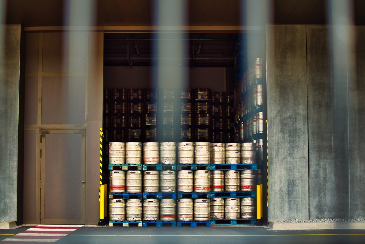 Library picture: Beer kegs awaiting shipment, Diekirch, April 2020. Photo credit: Gabor Koszegi/Unsplash