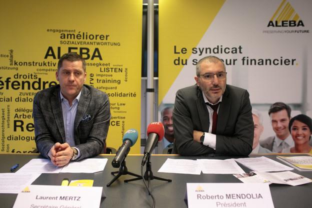 LaurentMertz (secrétaire général) et RobertoMendolia (président) mènent pour l'Aleba un combat de longue haleine contre les faux cadres. (Photo: Matic Zorman/Maison Moderne/Archives)