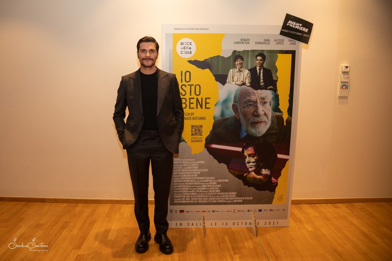 Alessio Lapice, who plays the role of young Antonio Spinelli, pictured at the premiere of IO STO BENE on Tuesday5 October at Kinepolis Kirchberg. Sandra Santioni Photography