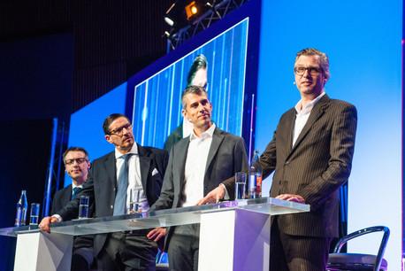 Andy Alexander (JP Morgan), Viktor Fischer (Acolin Luxembourg), Lauri Paal (Kneip) et Sascha Lingling (UBS Switzerland). (Photo: LaLa La Photo/Keven Erickson/Krystyna Dul)
