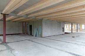 Au centre du bâtiment, le noyau en béton assure la stabilité de l'ensemble. (Romain Gamba / Maison Moderne)