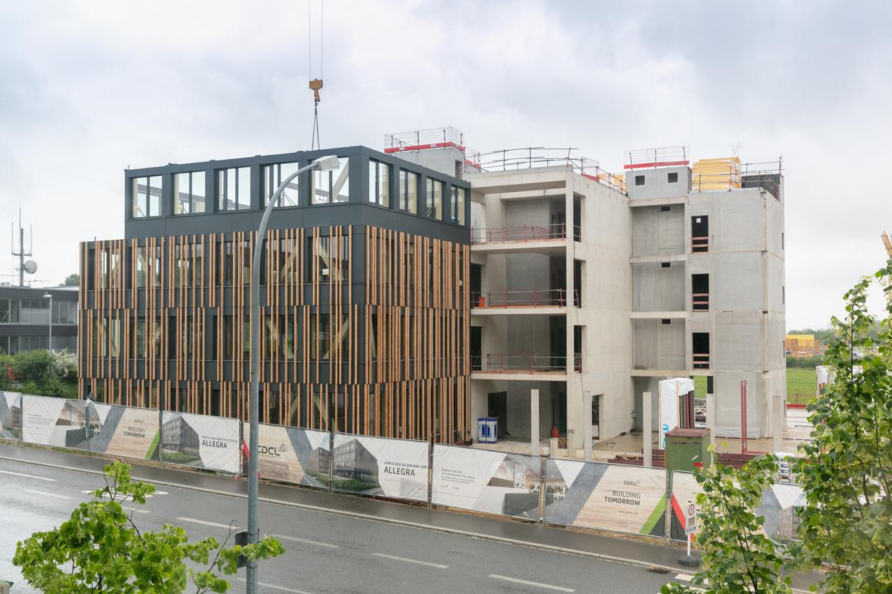 En seulement quelques semaines, le futur siège de CDCL a pu être construit grâce au système CREE. (Photo: Romain Gamba/Maison Moderne)