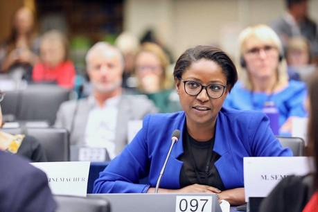 Monica Semedo a choisi Paperjam et Delano pour livrer publiquement son analyse sur les faits qui ont poussé à sa suspension par le Parlement européen et à sa démission du DP. (Photo: Parlement européen/EP)