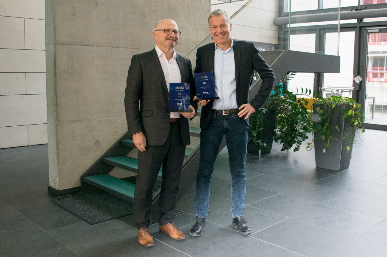 POST a remporté 2 awards lors des Cisco Partner Awards 2019 : Partner of the Year Belux & Meraki Partner of the Year (Crédit : POST Luxembourg)