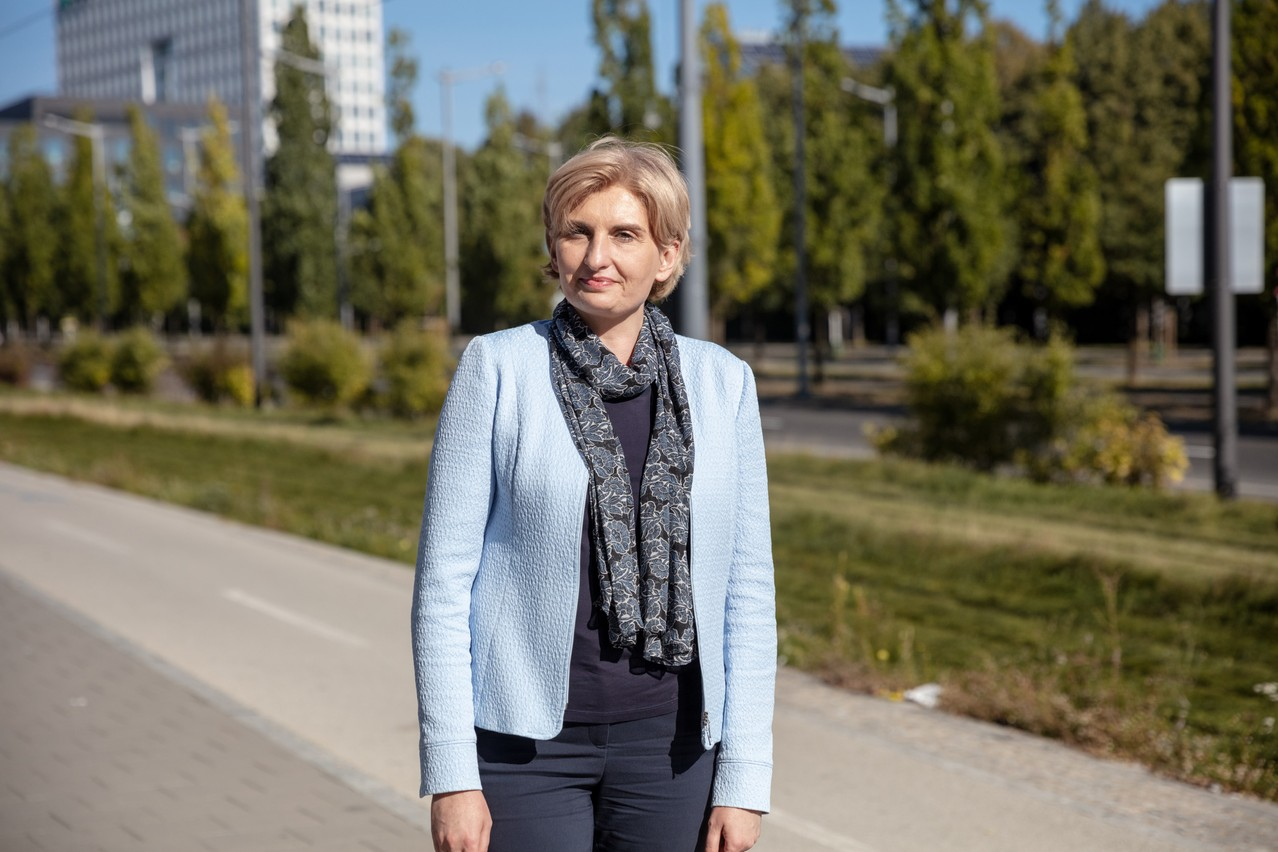 Agnieszka Sawa, CEO of Q Securities, seen in Kirchberg, 23 September 2021. Photo: Romain Gamba / Maison Moderne