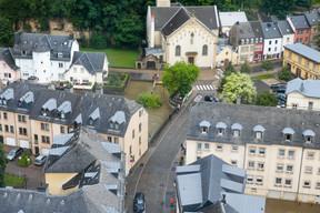 Vue aérienne du Grund, par endroits inondé. ((Photo: Matic Zorman / Maison Moderne))