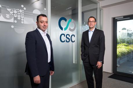PierreMifsud et YvesCheret ont la tâche de développer les activités deCSC LuxembourgServices. (Photo: Maison Moderne/Nader Ghavami)