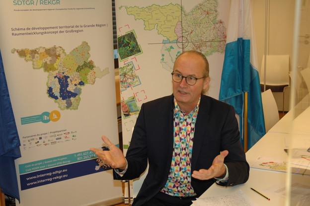 ClaudeTurmes, ministre de l'Aménagement du territoire, a participé à la septième réunion sectorielle Aménagement du territoire qui s'est déroulée le 12 janvier 2021. (Photo: MEA, DATer)