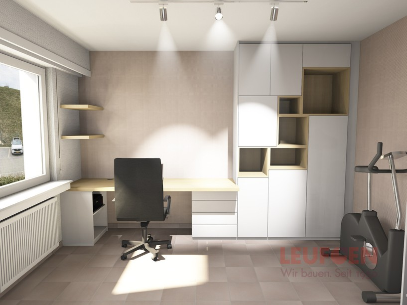 A vendor provided this illustration of a revamped home office to Geeta Rajaraman and her husband prior to commencing work. Photo provided by Geeta Rajaraman