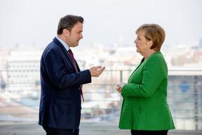 Xavier Bettel en visite à Berlin le 19 février 2018; il y rencontre notamment la chancelière Angela Merkel. ((Photo: SIP/Viviane Wild))