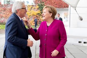Le 12 novembre 2018, le président de la Commission européenne Jean-Claude Juncker est reçu à Berlin par Angela Merkel. ((Photo: EU))