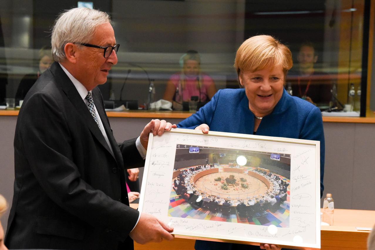 L'ancien Premier ministre (CSV) et président de la Commission européenne Jean-Claude Juncker connaît Angela Merkel depuis 1991. (Photo: EU)