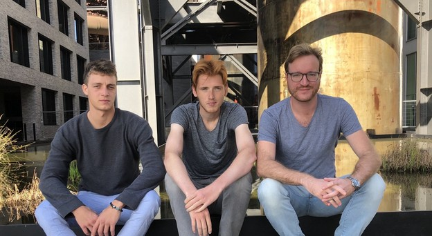 Marzio Flavio Schena (à gauche, aux côtés de Grégoire Mathonet et Matteo Cernuschi) a annoncé une première offre de 200.000 euros de droits musicaux d'Irma Records, pour ceux qui rejoindront la plate-forme dès son lancement, le 28 juillet. (Photo: ANote Music)