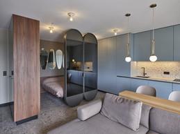 Le petit espace rassemble toutes les fonctions nécessaires à un logement. ((Photo: Eric Chenal))