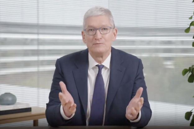 Le CEO d'Apple, Tim Cook, a appelé les utilisateurs à être plus exigeants avec le respect de la protection de leur vie privée, jeudi, à l'occasion de la Journée européenne de la protection des données. (Photo: Youtube / capture d'écran)
