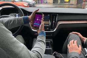 Sur le premier écran de l'application va apparaître un picto à droite: «Payer son carburant». ((Photo: Paperjam))
