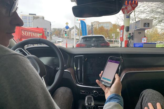 À partir de lundi, il sera possible de payer son carburant directement depuis l'application de la Bil, grâce à la technologie de CarPay-Diem. Un nouveau service. (Photo: Paperjam)