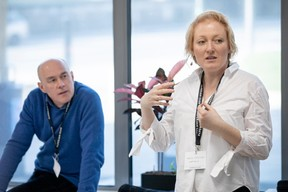 Paolo Radaelli (RBC Investor Services Bank) et Nadine Stoeltzlen (Hartmonia) ((Photo: Patricia Pitsch / Maison Moderne))