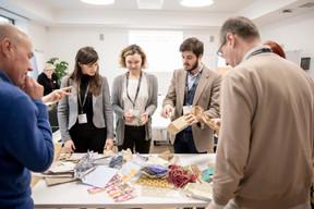 Aurélie Breton (Blackridge), Ioana Istoc (BRE Europe) et Cyprien Perozeni (Blackridge) ((Photo: Patricia Pitsch / Maison Moderne))