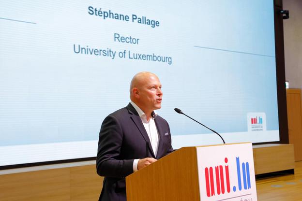 Le recteur de l'Uni, Stéphane Pallage, s'est félicité de la poursuite de cette collaboration qui témoigne de «l'excellent travail réalisé» depuis 2010. (Photo: Marc Schmit/Xero/Université du Luxembourg)