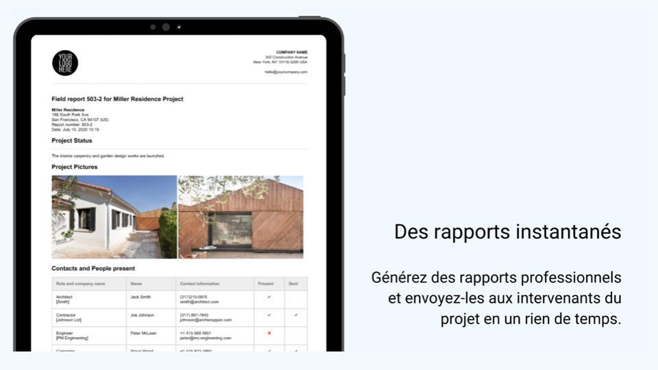 Des rapports instantanés ArchiSnapper
