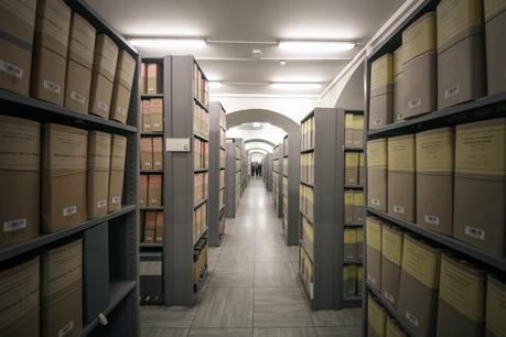 Environ un kilomètre linéaire d'archives ont été endommagés par l'eau. (Photo: Maison Moderne/Archives)