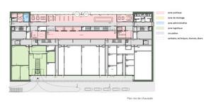 Plan du rez-de-chaussée ((Illustration: Fonds Belval))