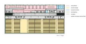 Plan du premier étage ((Illustration: Fonds Belval))