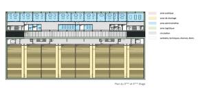 Plan des étages 3 et 4 ((Illustration: Fonds Belval))